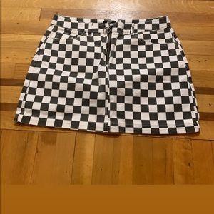 Urban outfitters checkered denim skirt